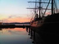 sunrise over Dundee; image via Flickr brockvicky CC license