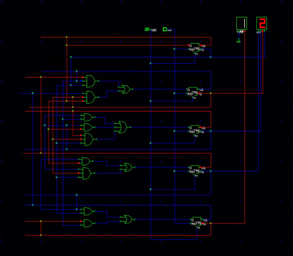 hight resolution of 12 hours digital clock using logic gates and flip flops