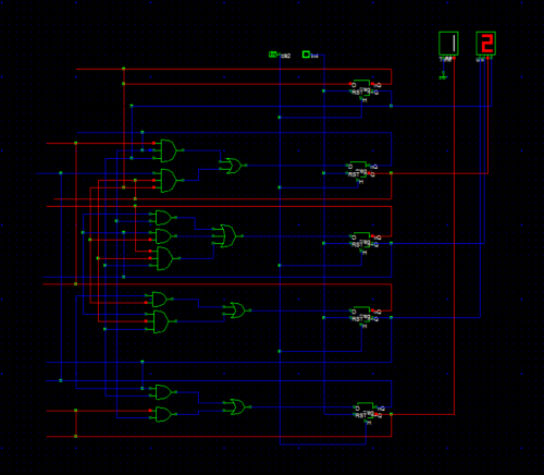 small resolution of 12 hours digital clock using logic gates and flip flops