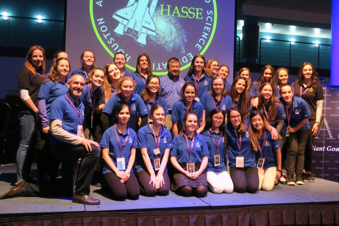 HASSE Space School students with Dr. Leroy Chiao.