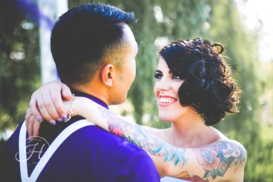 Moody wedding photography boise idaho brides with tattoos
