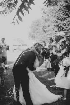 black and white vintage wedding photography bubbles exit boise idaho