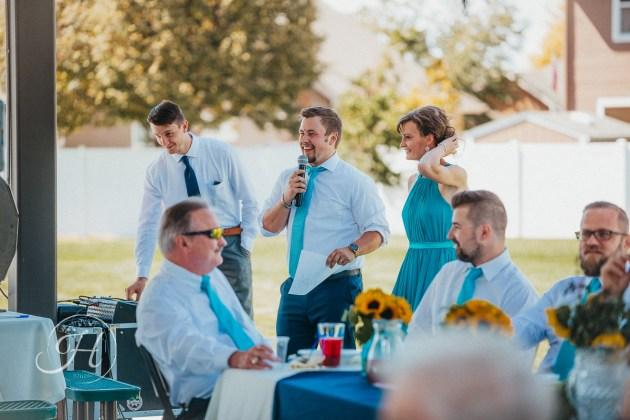 wedding photography Meridian Idaho Valley Shepherd Church best man speech