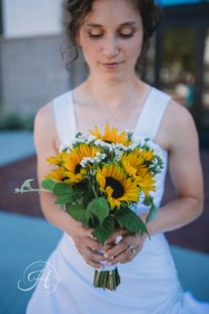 wedding photography Meridian sunflower wedding bouquet