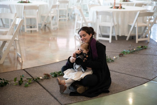 Wedding Photographer with a child