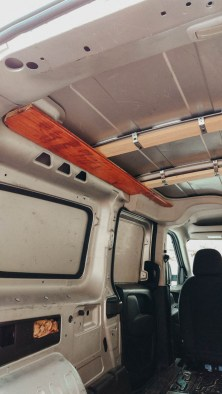 Work in progress picture Dodge Promaster City Van Conversion Ceiling