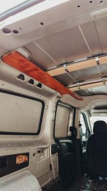 Work in progress picture Dodge Promaster City Van Conversion Ceiling
