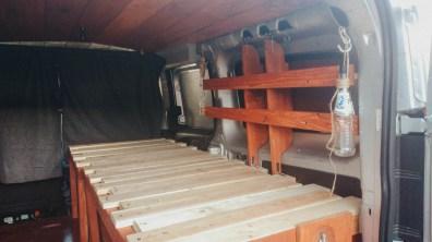 Work in progress picture Dodge Promaster City Van Conversion Bed interlocking extendable bed