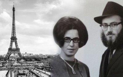 """La""""révolution juive"""" en France : Le 2 Iyar 1968, le RavChmouel Azimov et son épouse Bassie, arrivent à Paris"""