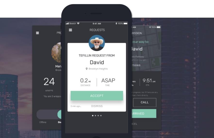 """""""Wrapp"""", une application qui relie les personnes possédantdes Tefilines avec celles qui souhaitent les mettre"""