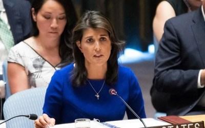 L'ambassadrice des Etats-Unis à l'ONU, Nikki Haley, démissionne