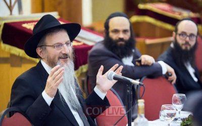 EN IMAGES. Farbrenguen de Youd Chevat à Moscou avec le Rav Berl Lazar, Chalia'h du Rabbi et Grand Rabbin de Russie