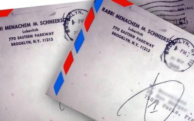 Des lettres du Rabbi adressées à Mme G. Benhamou, Mme Aziza Cornu et M. Yehouda Bistri, ont été retrouvées. Si vous connaissez les destinataires, merci de contacter la rédaction