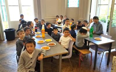 Hai Elloul 5779 : Rassemblement des élèves du l'école des garçons de Beth Rivkah