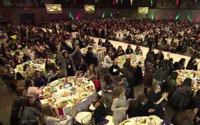 VIDEO. New-York – Le banquet de la convention internationale 2020 des femmes émissaires du Rabbi