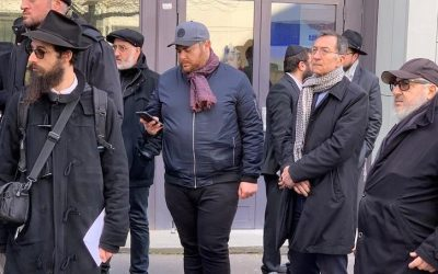 Levaya de M. Joseph Cohen a'h jeudi 12 mars devant la rue Petit, en présence du Maire du 19ème, François Dagnaud