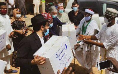 """L'association """"Les rois du monde"""" finance 770 colis humanitaires distribués par le Beth Habad du Nigeria"""