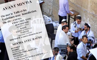 Lois du 9 Av : Fin de la prière de Cha'harit,  Min'ha, Maariv, Birkat HaLevana et journée de vendredi