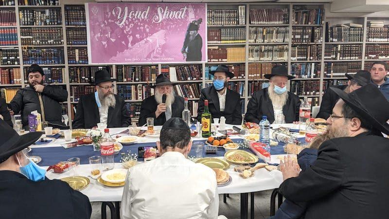 Farbrenguen de Youd Chevat  avec le Rav Pin'has Pachter au Beth Habad Chnéor