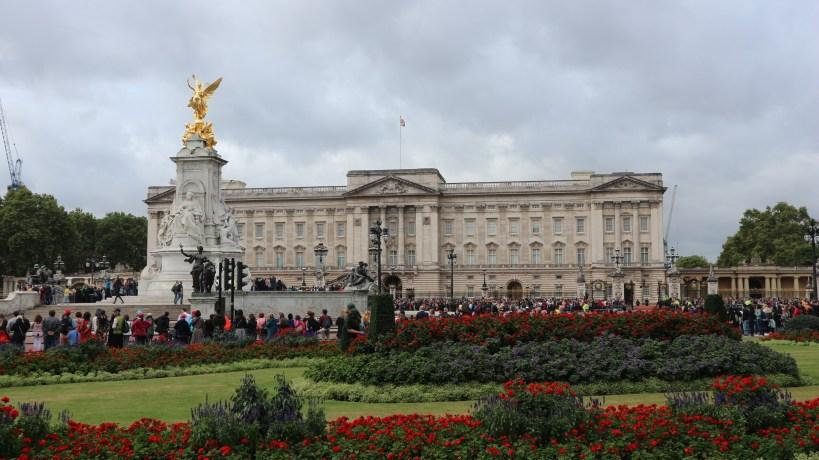 Residencia real britanica de Buckingham Palace en Londres