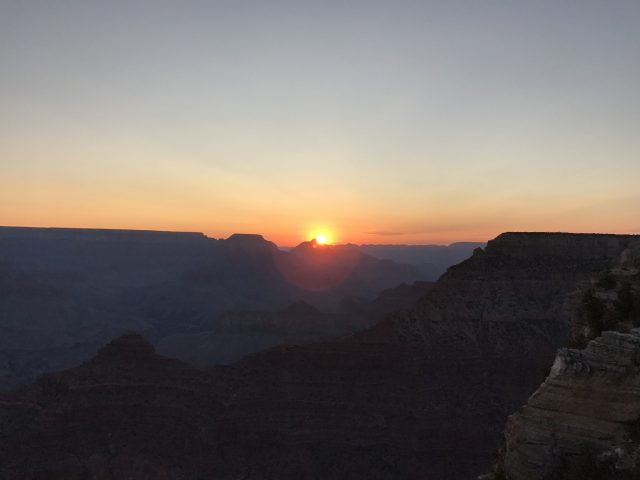 Amanecer Mather Point Gran Cañón