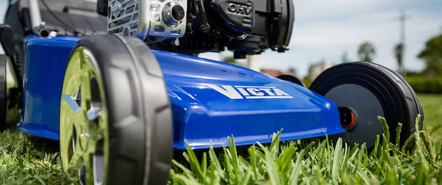 Victa lawn mower close up