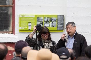 Dan Tokawa at the Livestock Building