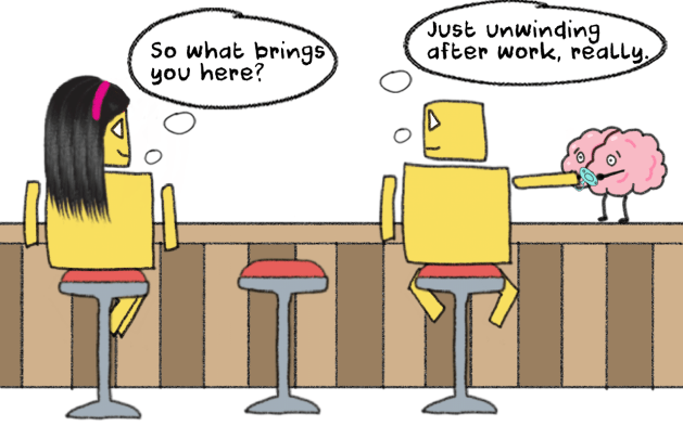 starting a chat at the bar