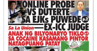 Online probe vs Duterte sa EJKs puwede — ex-ICC judge