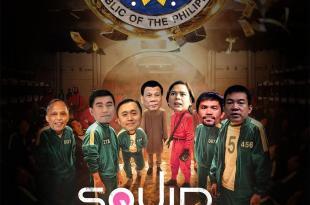 Squid Game PH Elections 2022, Alfonso Cusi, Melvin Matibag, Bong Go, Rodrigo Duterte, Sara Duterte, Manny Pacquiao, Koko Pimentel