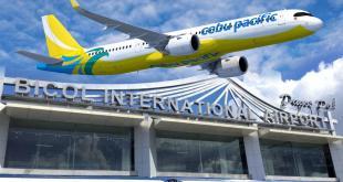 Domestic operations ng Ceb Pac sa Bicol Int'l Airport sinimulan na