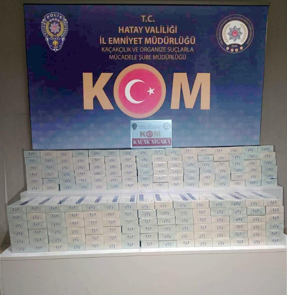 Hatay'da bin 860 paket kaçak sigara ele geçirildi