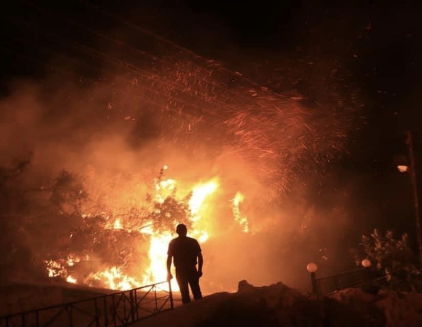 Suriye'deki orman yangını kontrol altına alındı