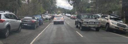 Parking chaos Warrandyte Market