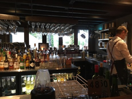 Sitting at bar at Olivigna