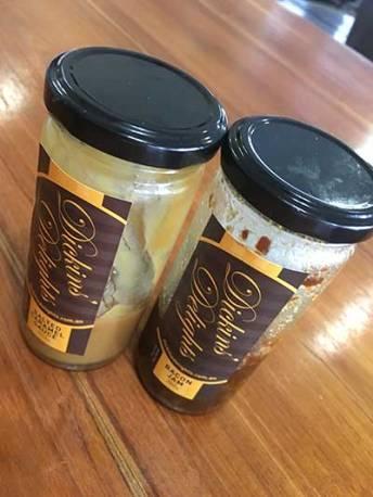 Caramel sauce and Bacon Jam