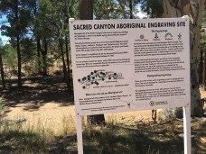 Information board Sacred Canyon