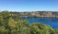 Blue lake pretty