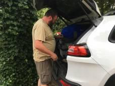Bright Campsite packing car