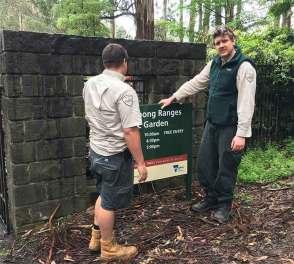 "New Sign | Dandenong Ranges Botanic Garden ( formally the ""National Rhododendron Garden"" )"