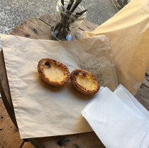 Portuguese tarts and danishes