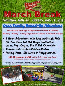 Hatfield Farm March Break Family Round Up March 10 - March 18, 2018