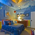 Contemporary boys bedroom solar system decoration by hobus homes