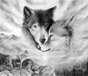 wolf drawings drawing cool wolves wolfs pencil drawn sketch mates awesome pack mate hative really inspiration cute wolve tattoo together