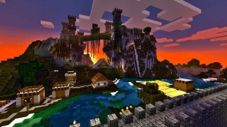 castle minecraft mountain cool designs houses hative