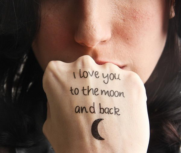 20 I Love To The Moon And Back Tattoos Ideas And Designs