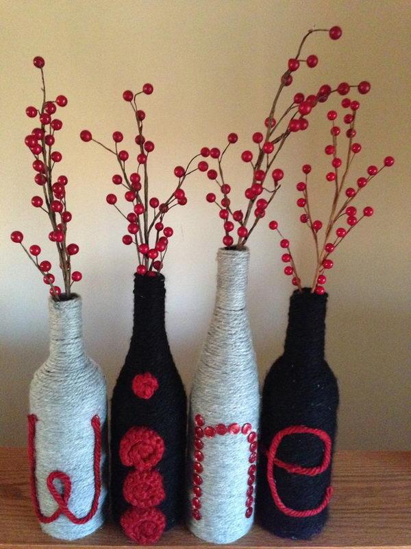 80 Homemade Wine Bottle Crafts  Hative