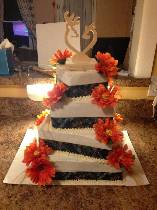 Camouflage Wedding Cake Toppers