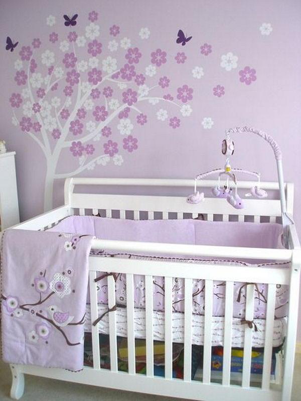 Girl Nursery With Wallpaper 20 Cute Nursery Decorating Ideas Hative
