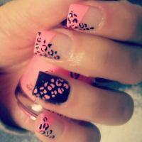 Cheetah Print Nail Designs With Bow